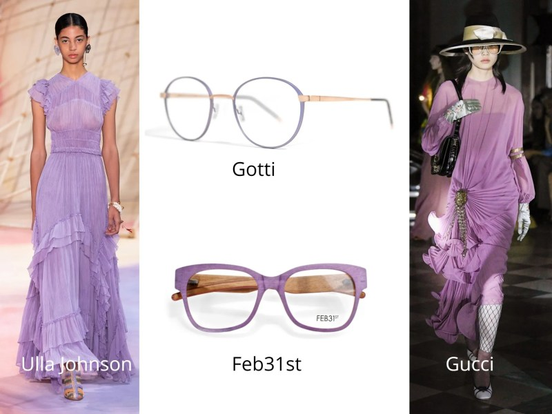 lilac eyewear and catwalk trends2020