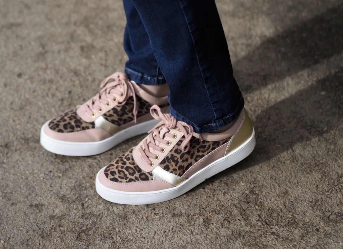 Stressless by Lotus oink leather leopard print trainers