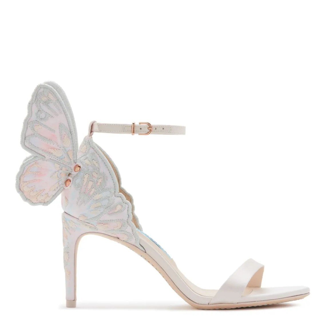 wedding shoes with butterflies on