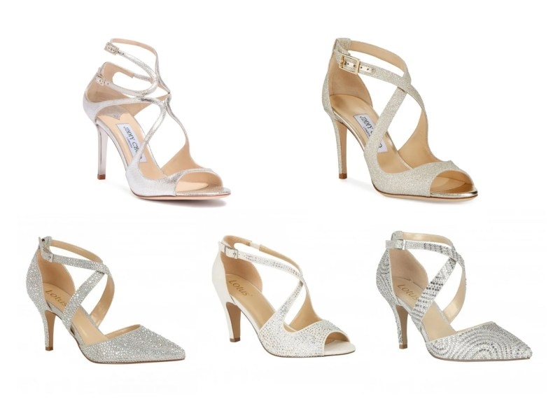 crossover strappy wedding shoes