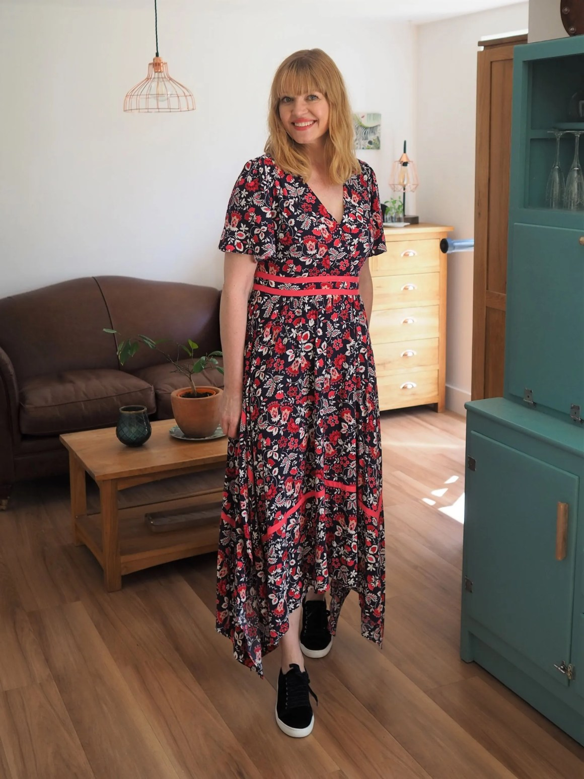 Boden Holly floral midi dress dress