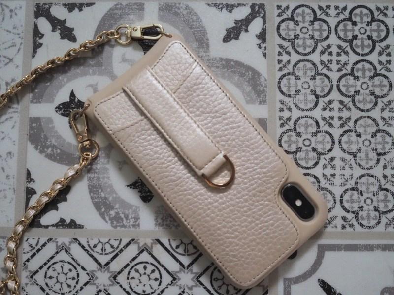 Vaultskin leather crossbody iphone case