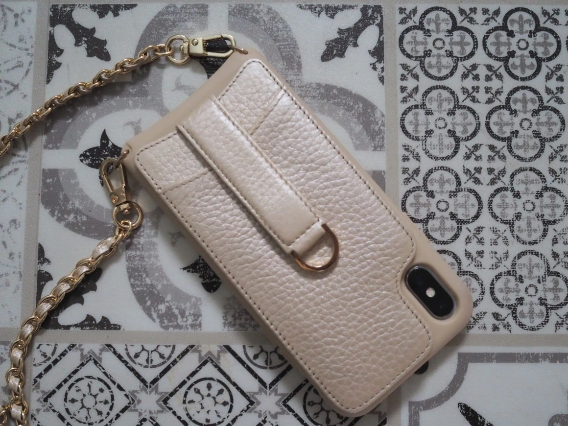 Vaultskin leather crossbody iphone case