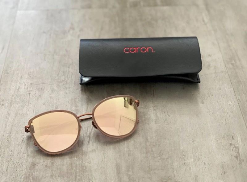 rose gold mirrored sunglasses by Caron eyewear