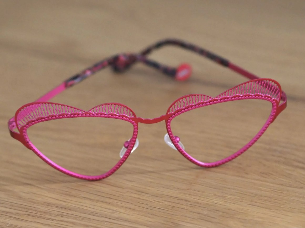 Boz pink heart spectacles