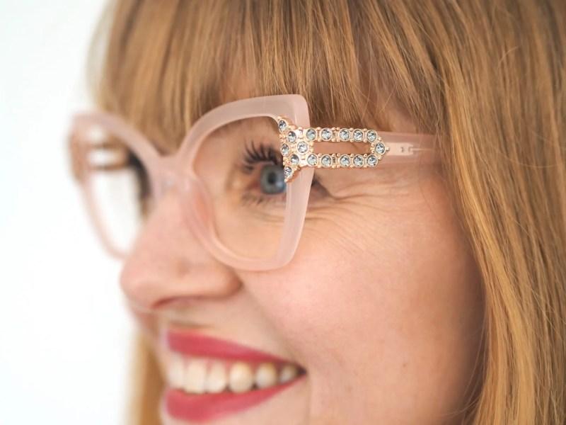 Pier Martino eyewear set with Swarovski crystals