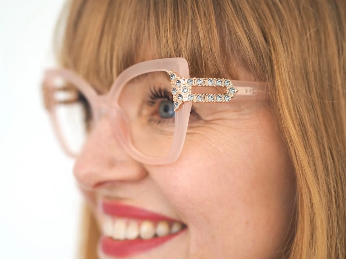 Aurora by Pier Martino eyewear set with Swarovski crystals
