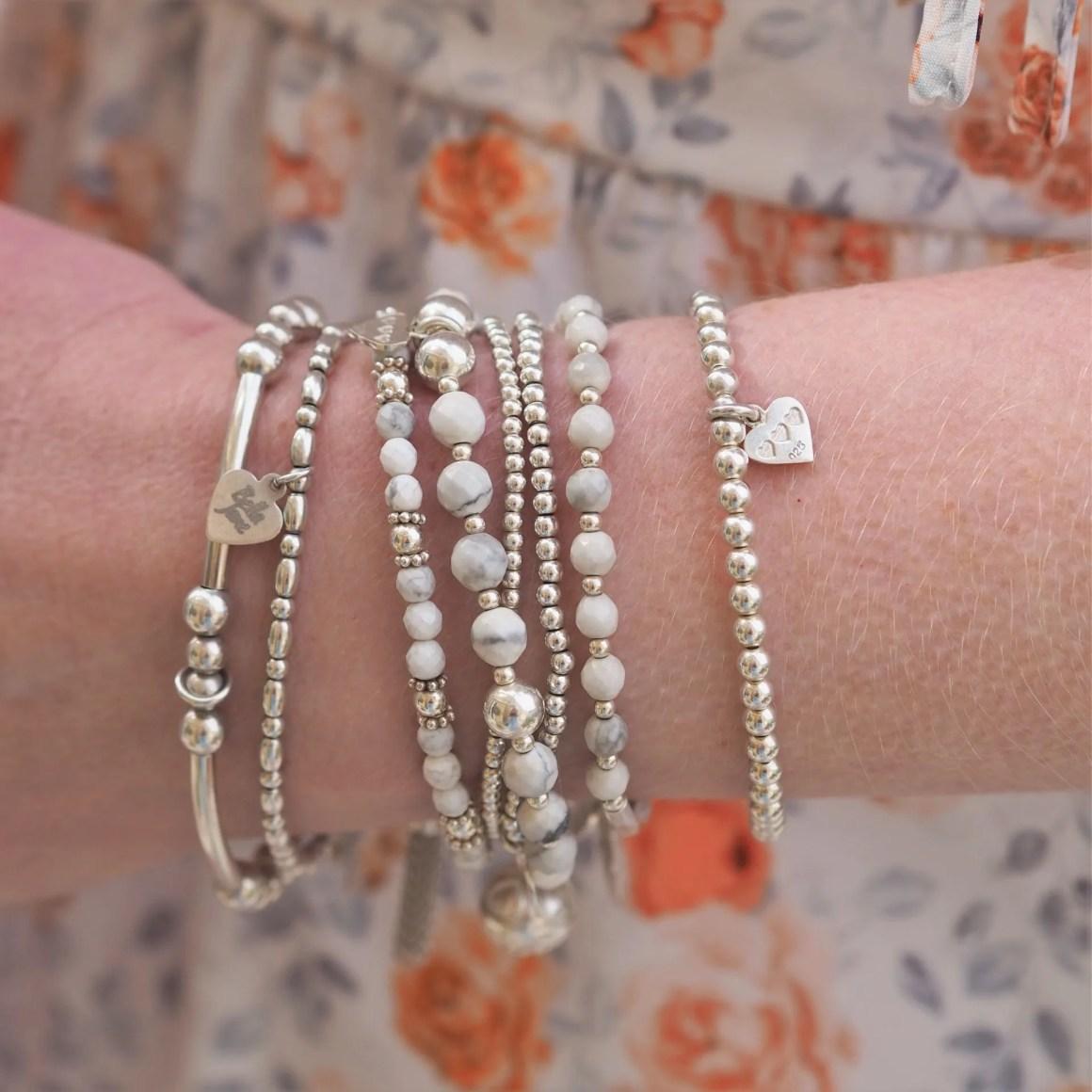silver stacking bracelets