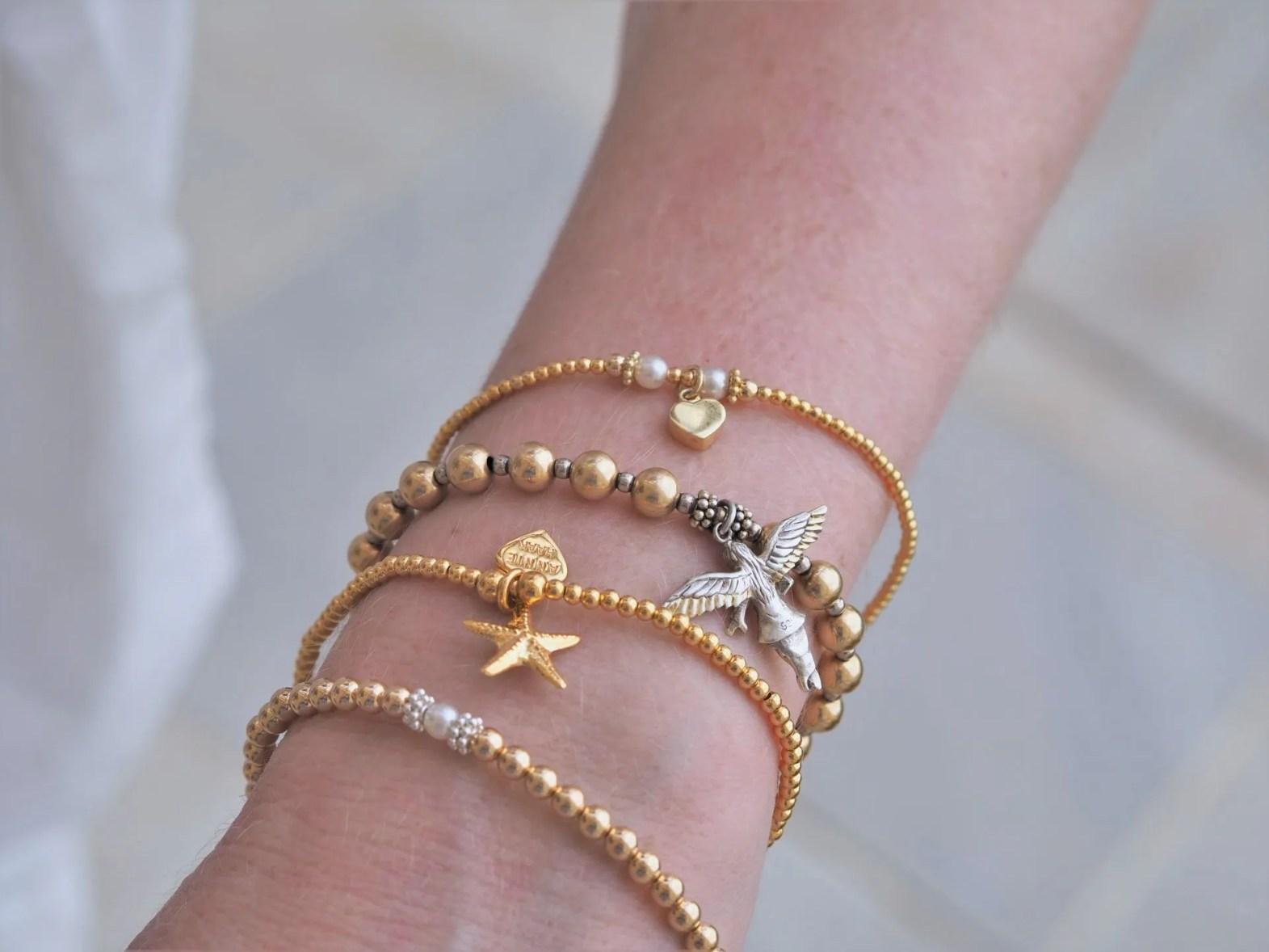 Annie haak stacking bracelets