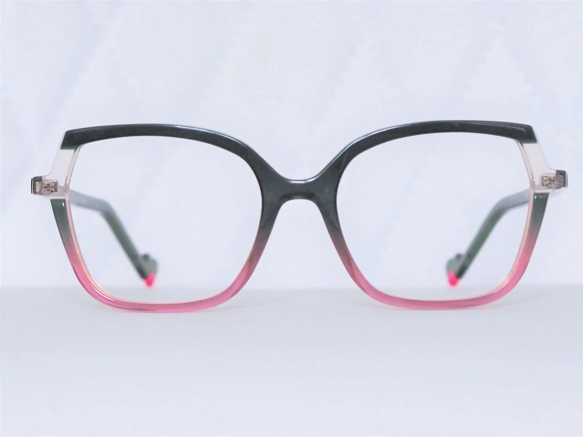 pink and green acetate eyewear by Face a Face
