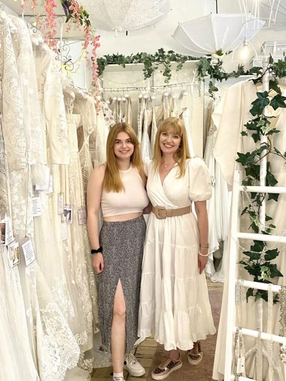 wedding dress fitting at Bridal Emporium in Leeds