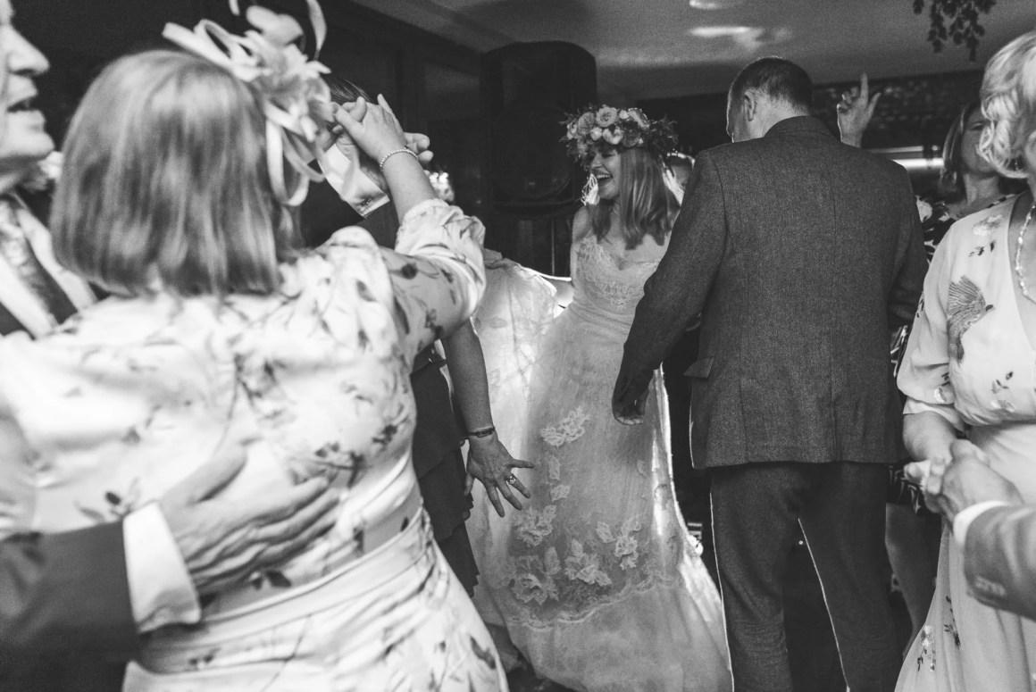 wedding party at Beck Hall