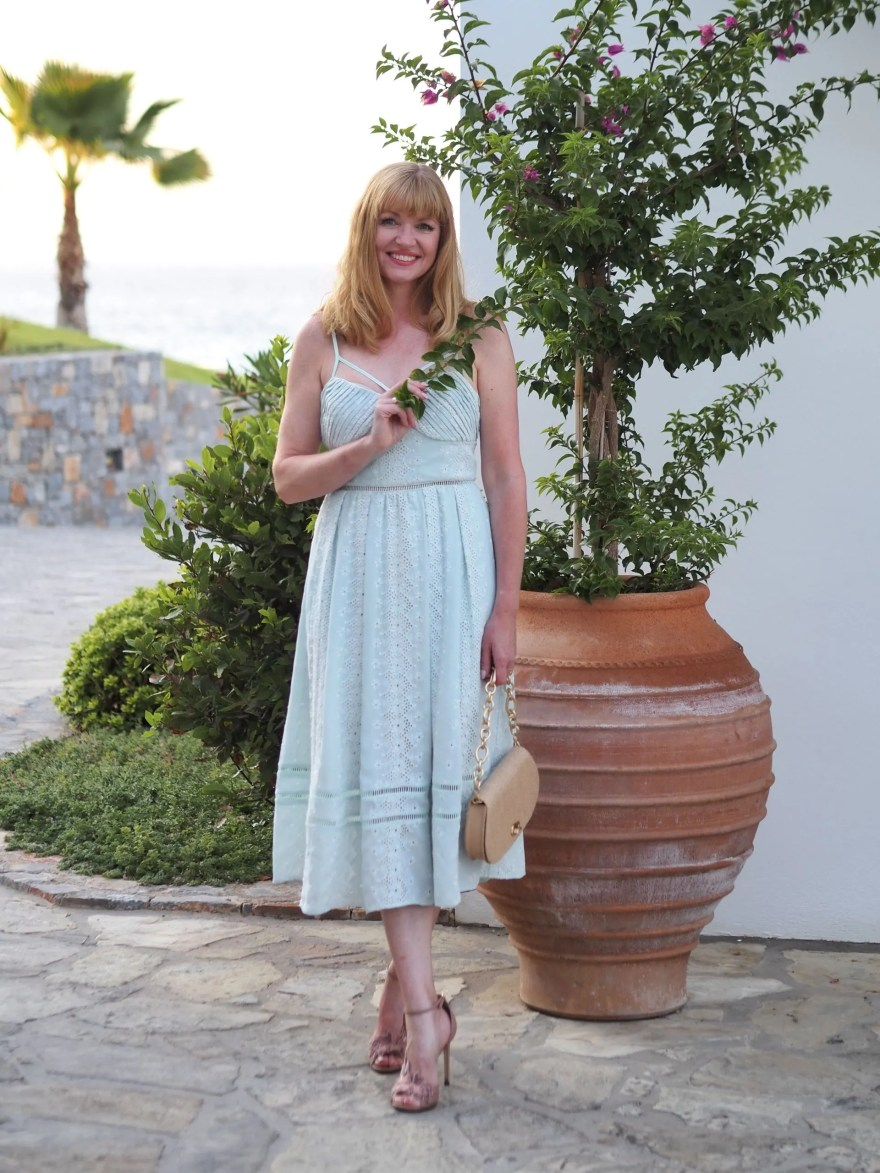 mint green self portrait dress
