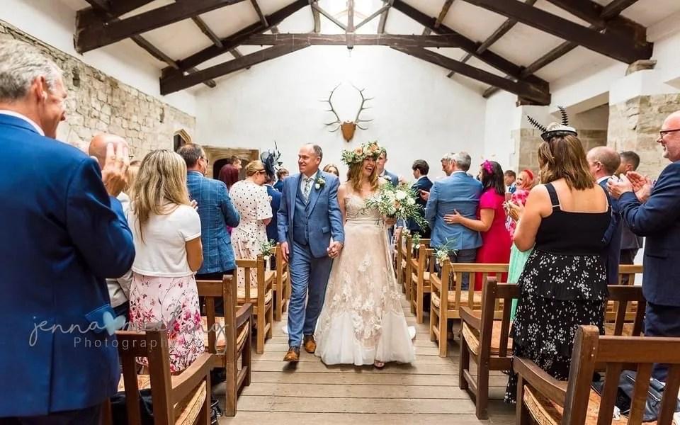 wedding ceremony at Skipton Castle