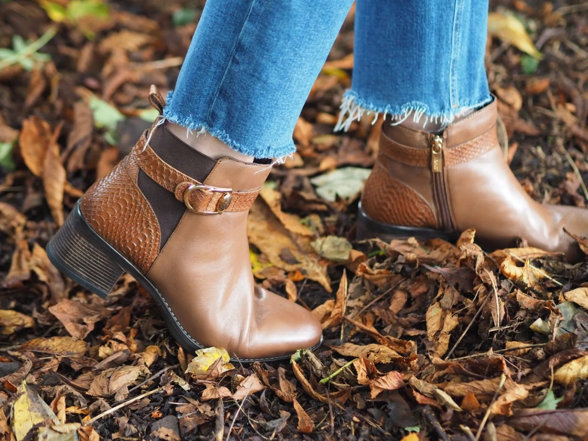 lotus tan leather boots