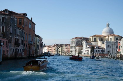 On our second day we took the boat on the Canal Grande...