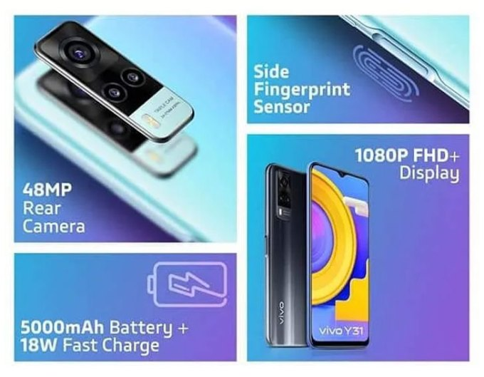 Vivo Y31 Price in Pakistan; Official Product Posters Leak Revealing  Snapdragon 662, 1080P Screen, 48MP Camera - WhatMobile news