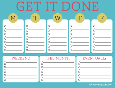 Free Printable To Do Lists Cute Colorful Templates
