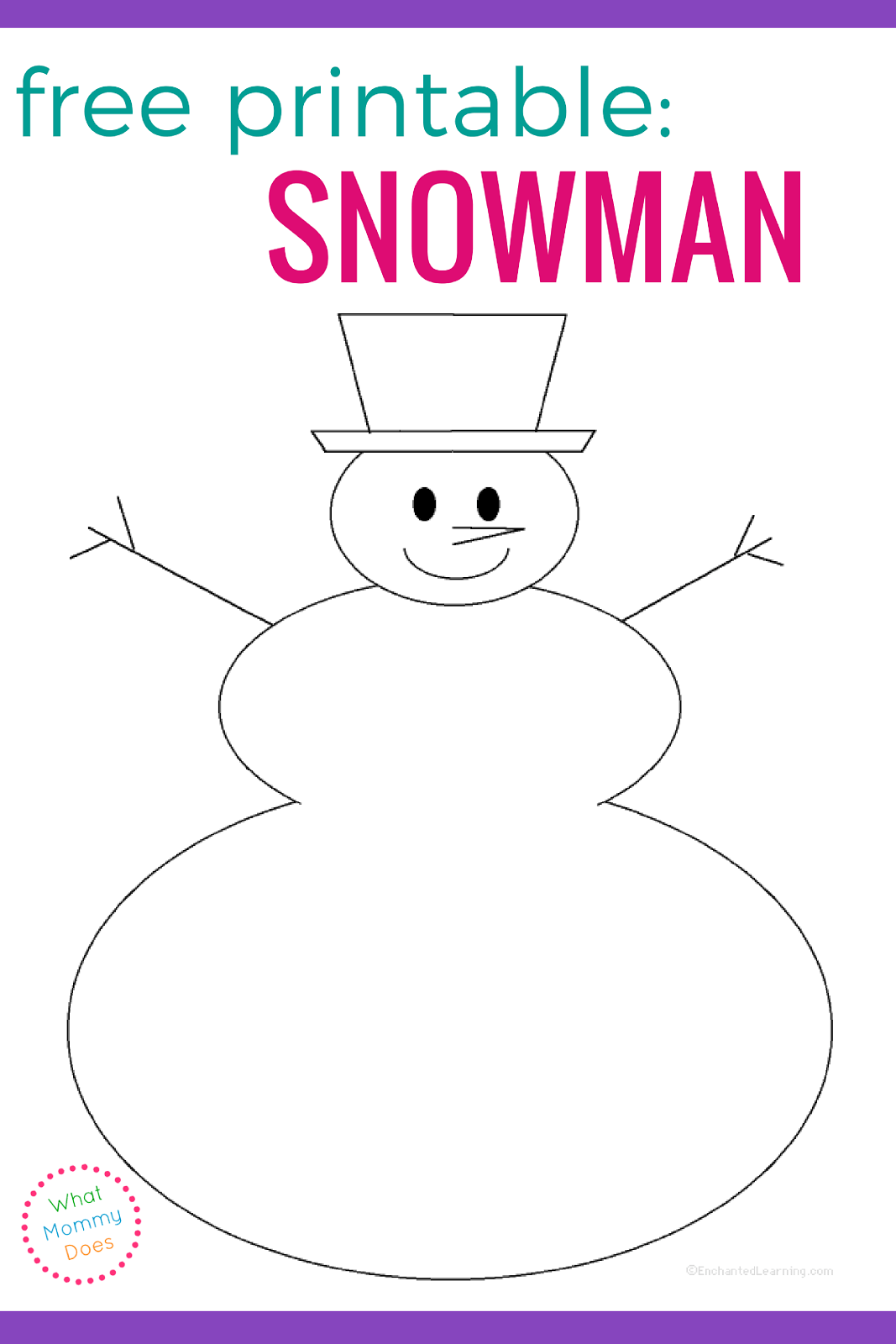 The Best Snowman Printable