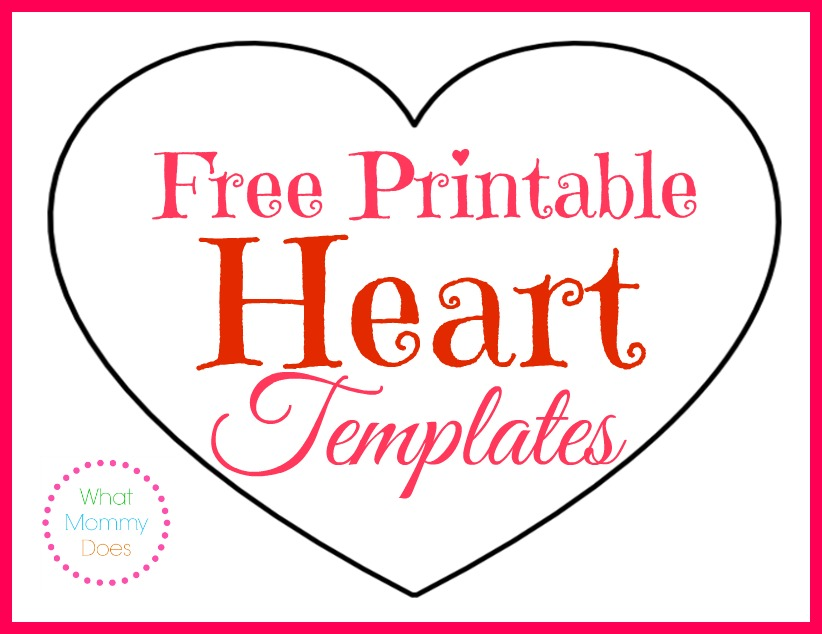 Free Printable Heart Templates Large Medium Small Stencils To Cut Out What Mommy Does