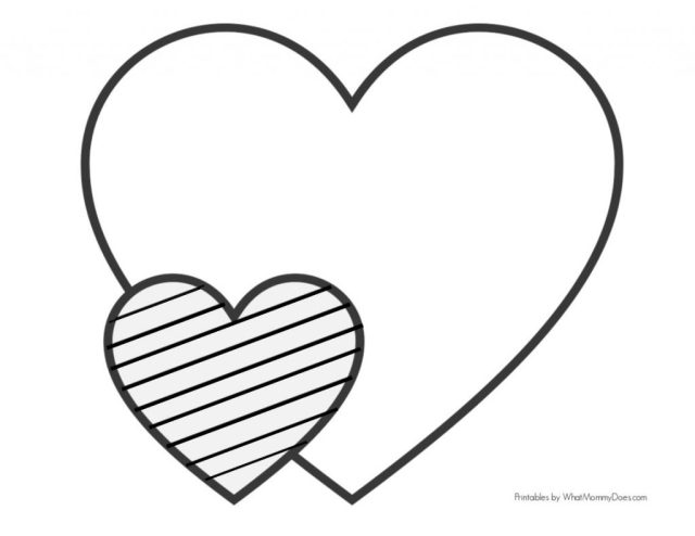Easy Heart Coloring Pages for Kids Stripe Patterns! - What Mommy