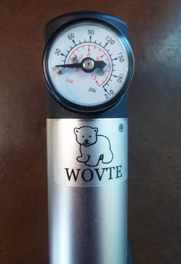 WOVTE Mini Bike Pump with Pressure Gauge