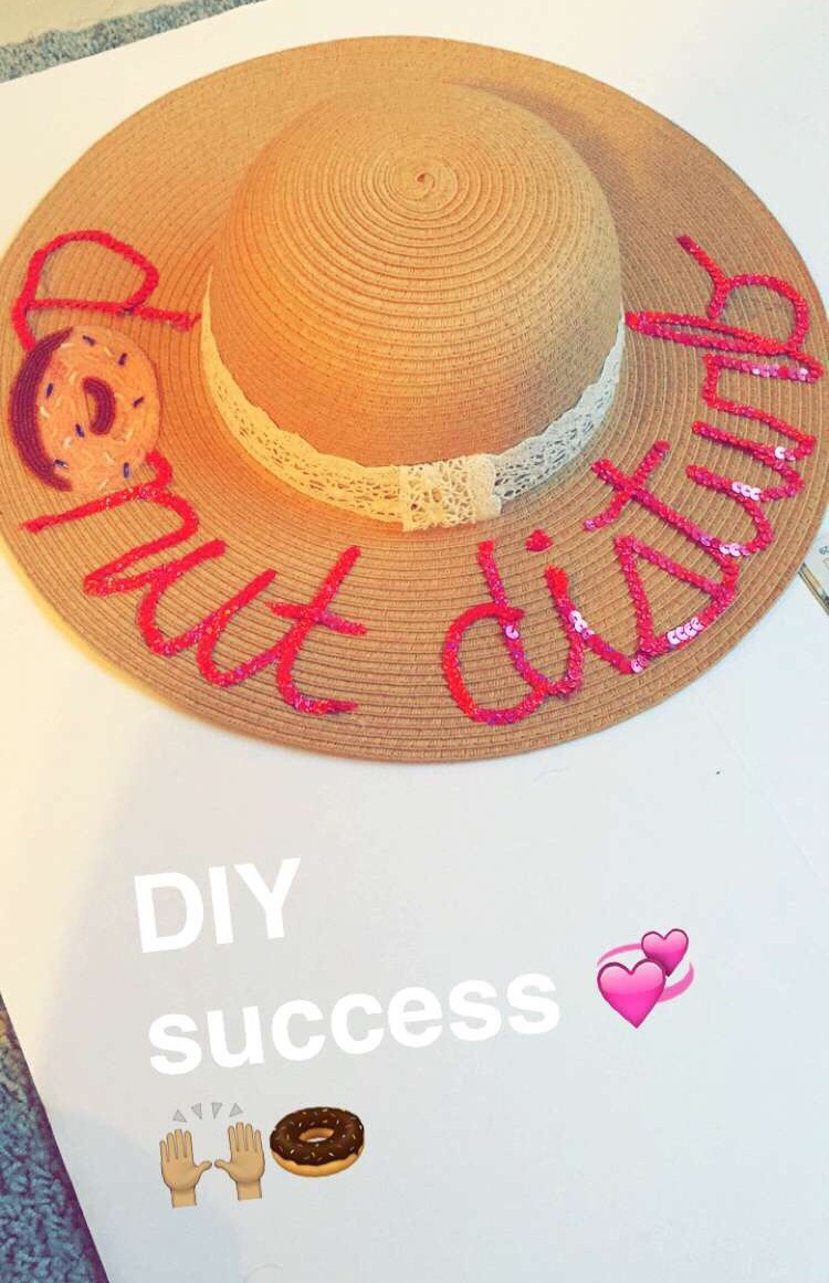 DIY Donut Disturb Beach Hat