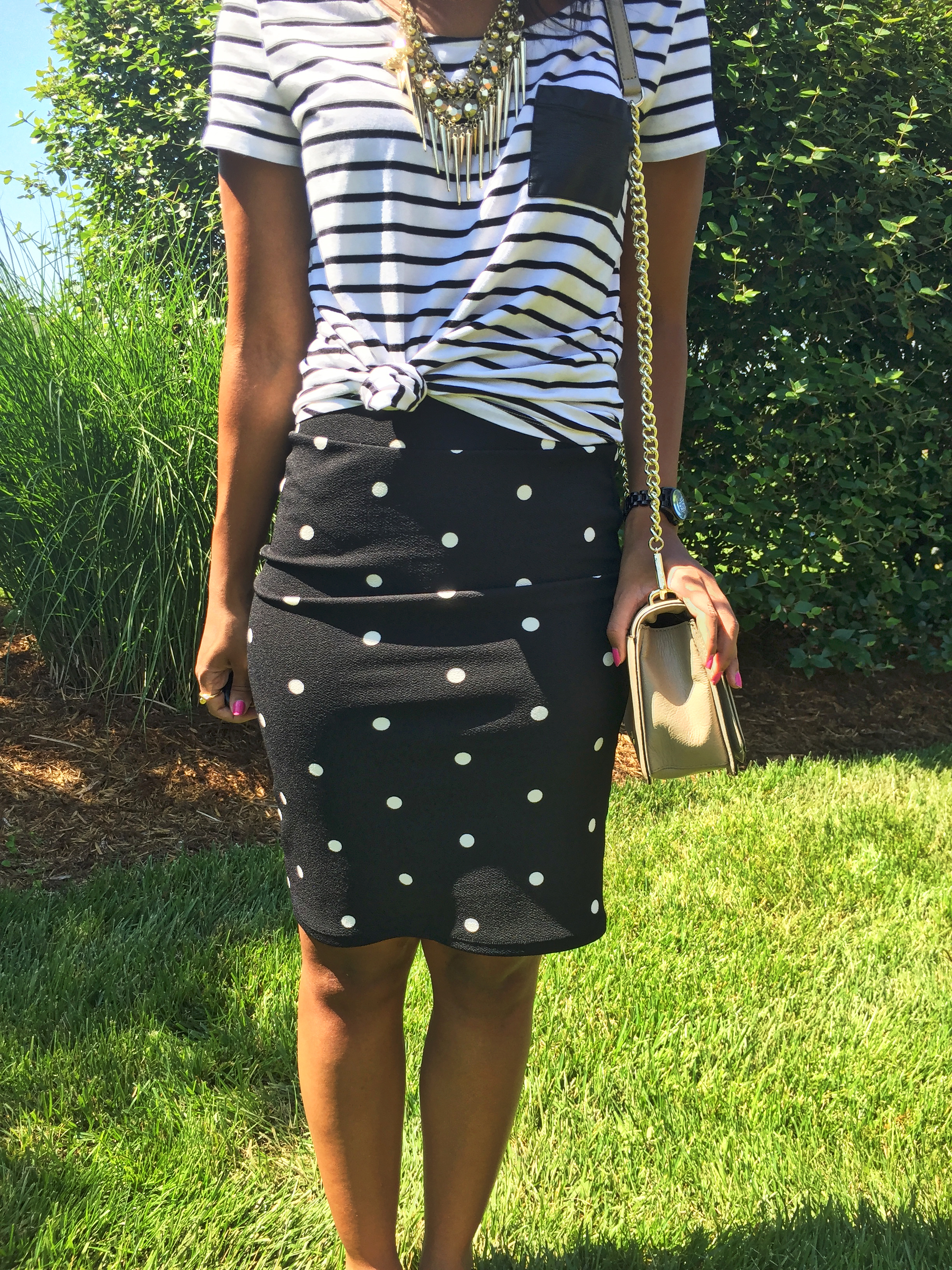 What Nicole Wore: LuLaRoe Cassie Skirt