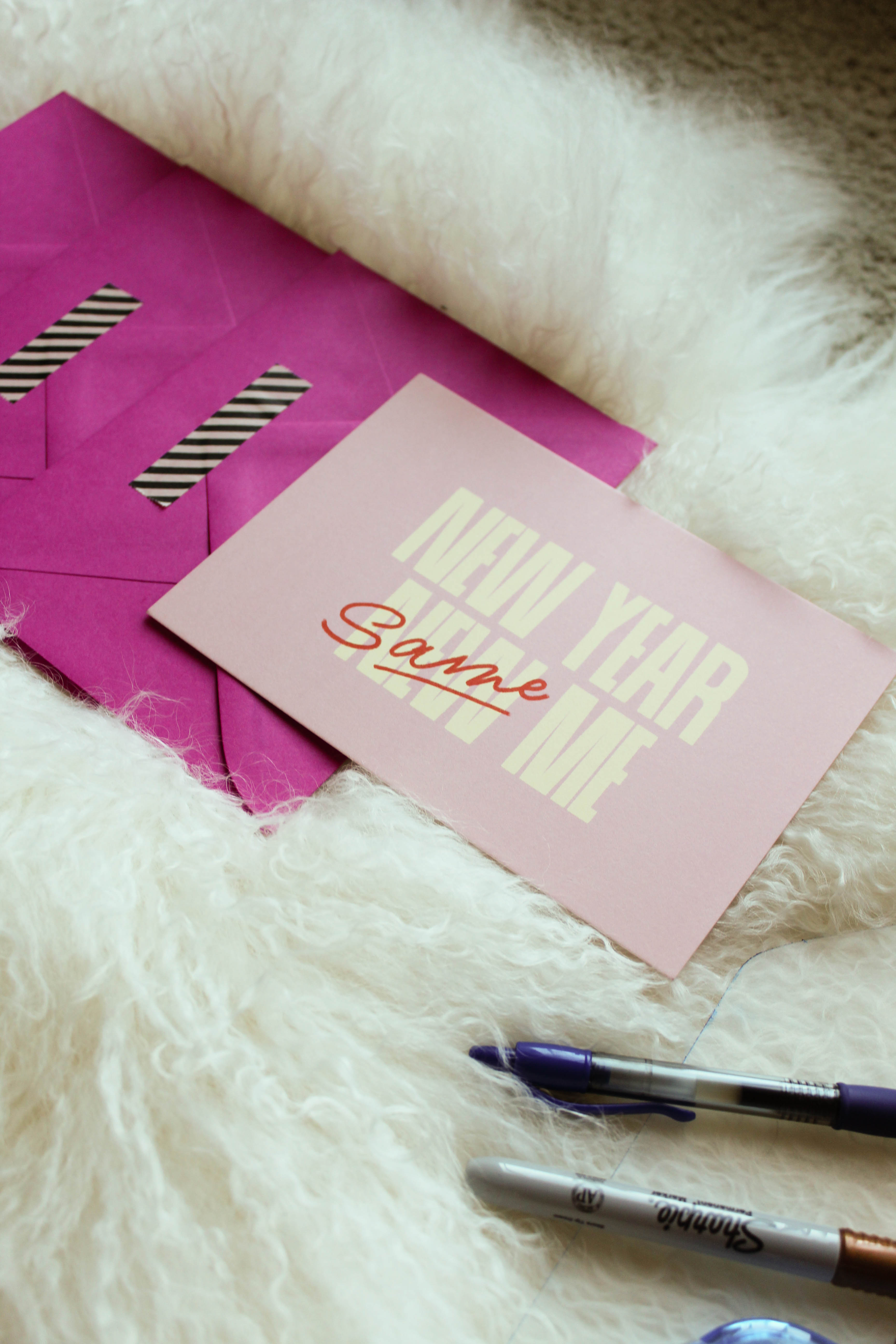 Holiday cards stressing you out? Southern lifestyle blogger shares a tutorial for DIY envelope liners + tips for making your Christmas cards stand out. // washi tape ideas, kate spade new york stationery, paper source greeting cards, customized christmas cards, best holiday cards, how to use washi tapes, snail mail ideas