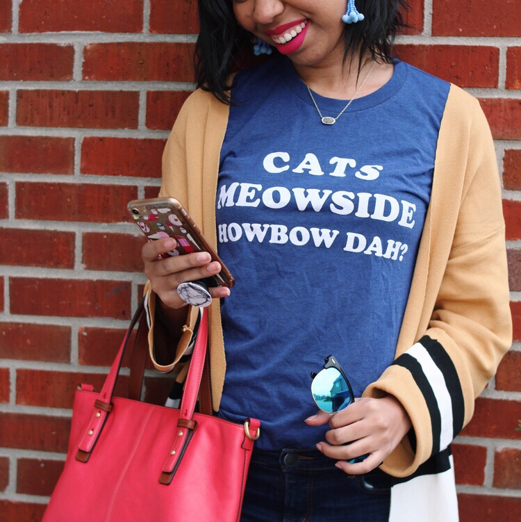 Style blogger, What Nicole Wore, shares her latest favorites, the highs and lows of the week, plus ideas of what to do this weekend! // casual outfit ideas, weekend outfits, gameday outfits for women, shop local ky, topshop cardigan dupe