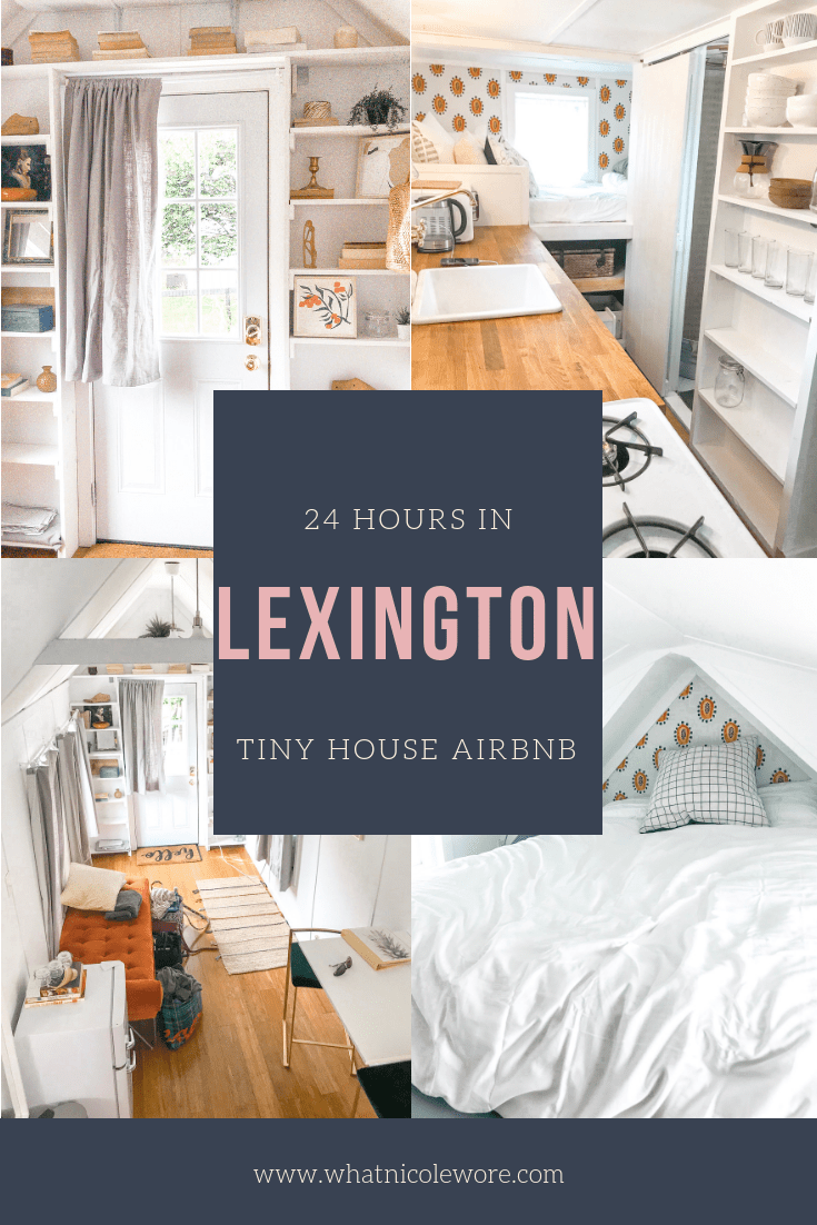Travel blogger shares a Lexington city guide wrapping up where to stay, shop, and what to do on your next trip to Lexington, Kentucky. // airbnb design, airbnb tips, tiny home living, tiny house design, white modern home