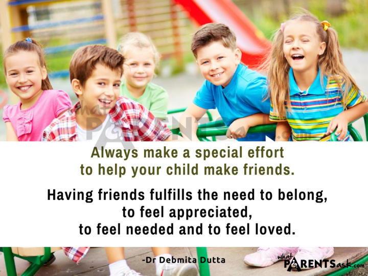 always make a special effort to help your child make friends