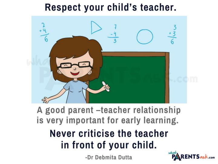respect your childs teacher