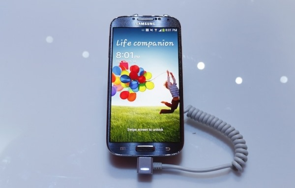 samsung-electronics-cos-latest-galaxy-s4-phone-is-seen-during-its-launch-at-the-radio-city-music-hall-in-new-york-march-14-2013