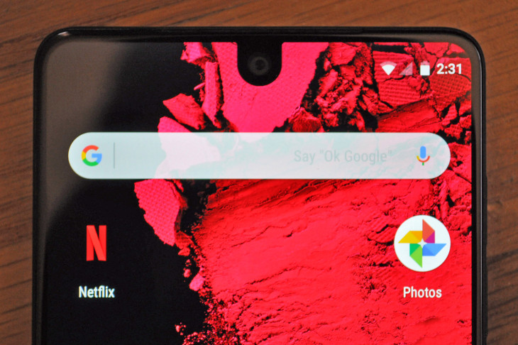 Android P Notch notification