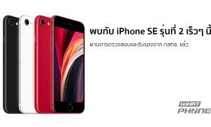 iPhone SE รุ่นที่ 2 ผ่านการตรวจสอบและรับรองจาก กสทช. แล้ว