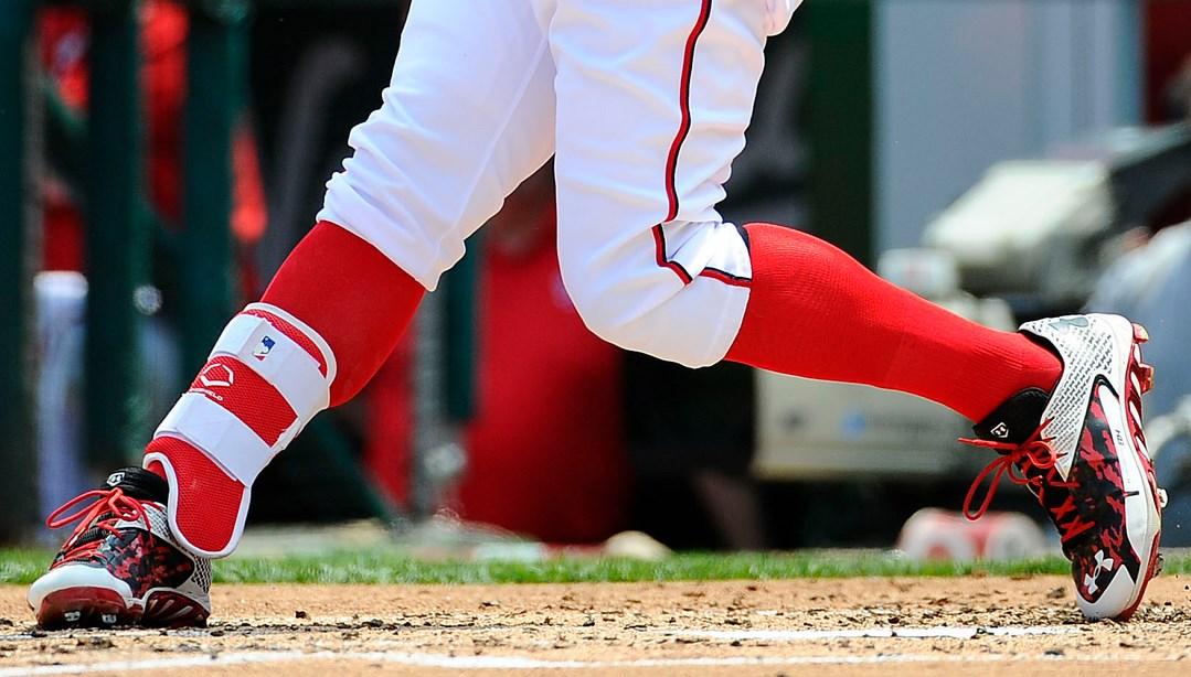 What Pros Wear Bryce Harpers Evoshield Leg Guard What