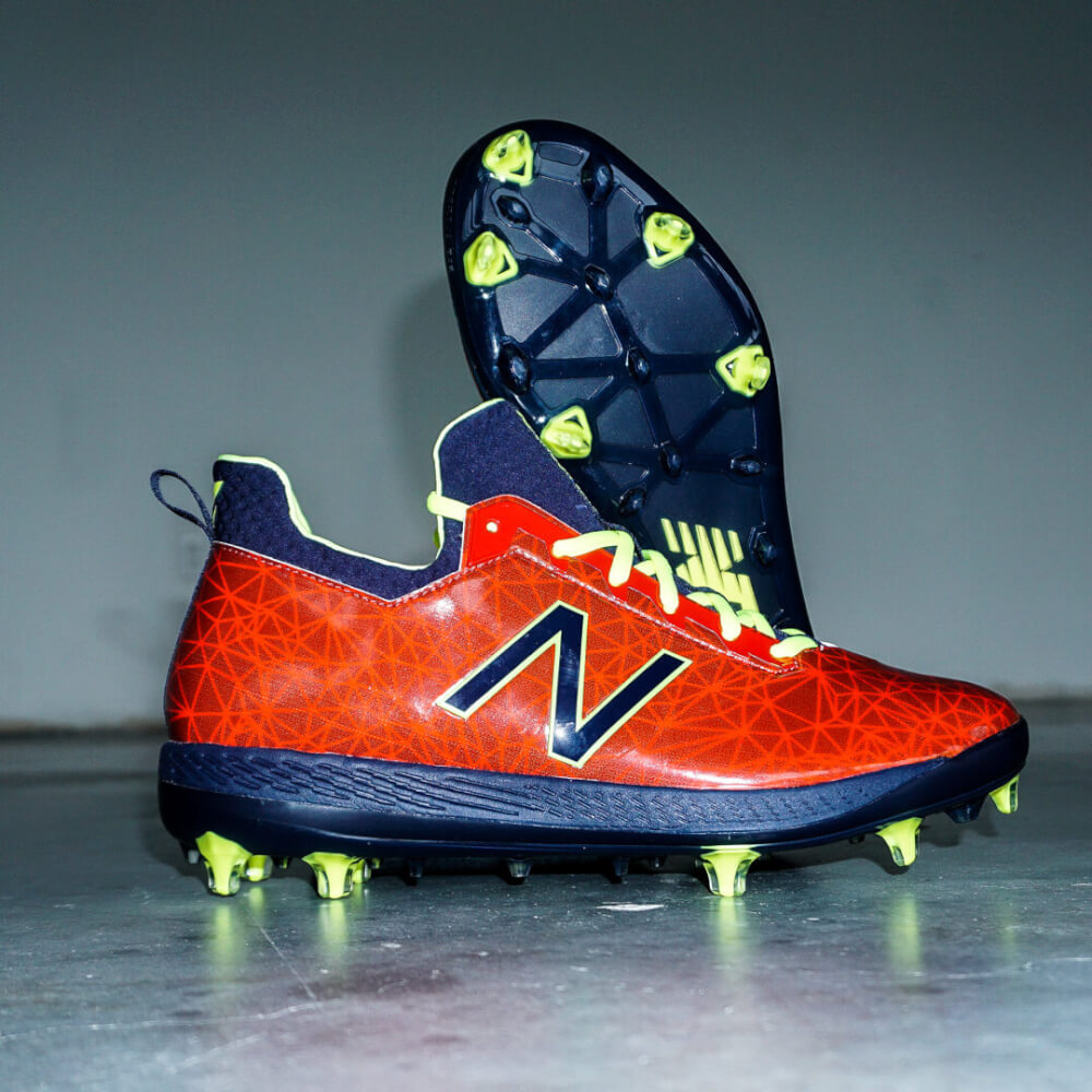 34b62388d327 What Pros Wear: Francisco Lindor's New Balance COMPv1 Cleats (2018  Playoffs) - What Pros Wear