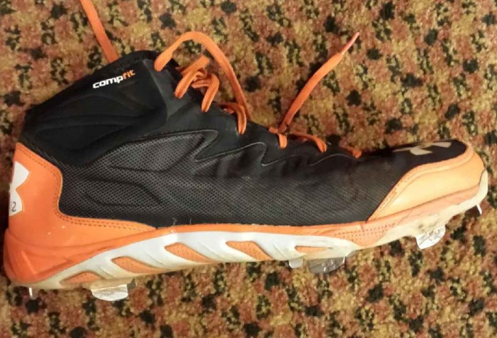 e0caccf8d6d1 What Pros Wear: Joe Panik's Under Armour Spine Cleats - What Pros Wear