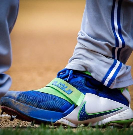 "392bb24c9a8 Russell Martin Gear. Russell Martin's Lebron Soldier 9 ""Sprite"" ..."
