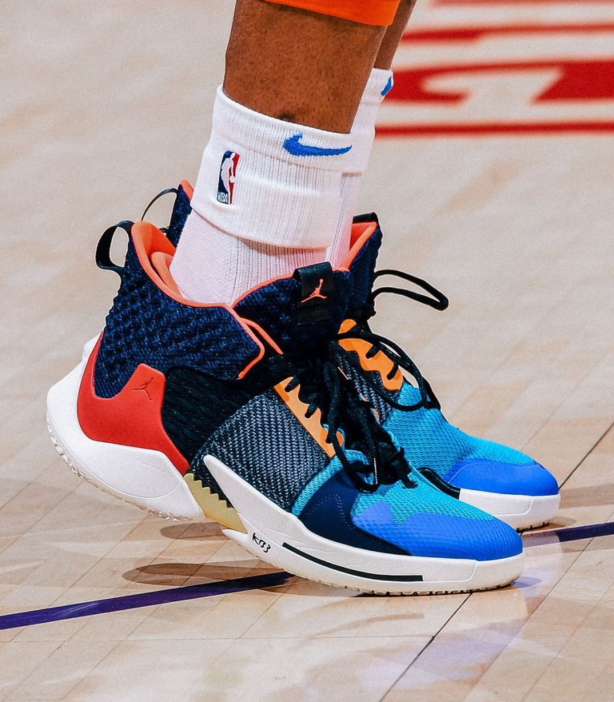 bfec09fef5b What Pros Wear: Russell Westbrook's Air Jordan Why Not Zer0.2 Shoes - What  Pros Wear
