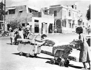 Palestinian refugees from jaffa May 1948