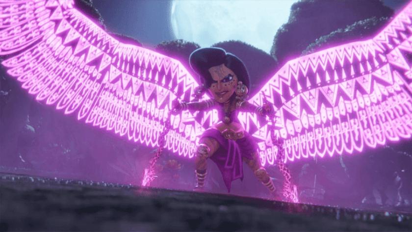 Maya and the goddess of the three Netflix animated miniseries