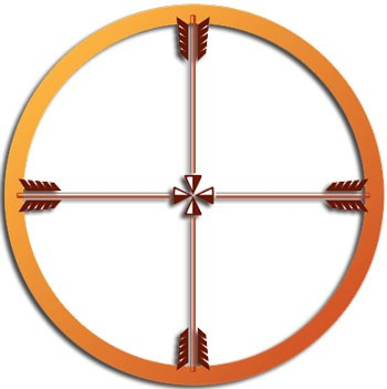 49c27a73dd531 This is the Sioux medicine wheel and is a symbol of enlightenment. This  wheel instructs the beholder how to learn more of themselves and the  universe.