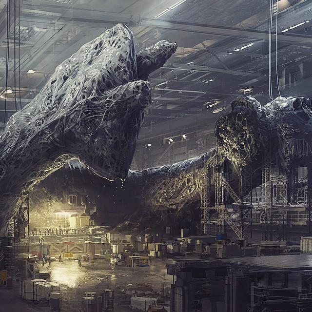 Neill Blomkamp Aliens concept art (3)