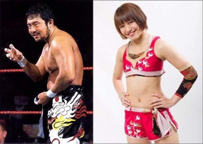Former WWE superstar Tajiri and Shuri Kondo