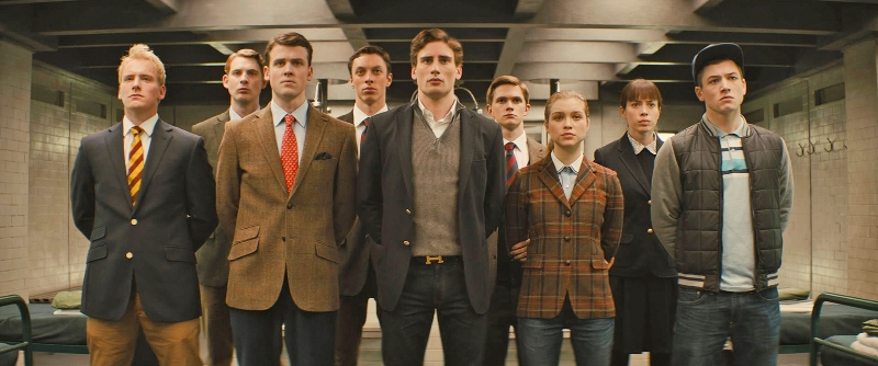 young recruits for training in KINGSMAN THE SECRET SERVICE