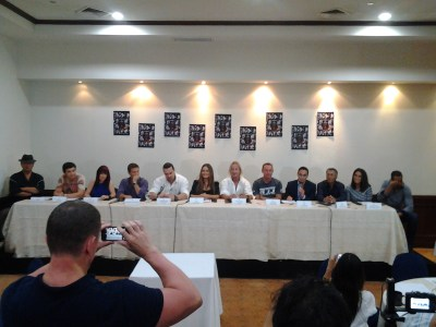 The Press Conference with the casts of Showdown in Manila