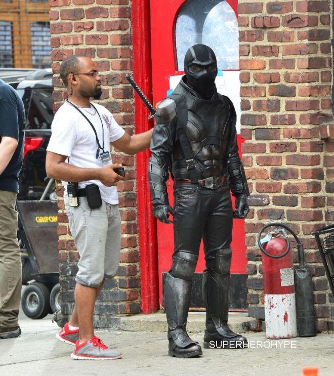 Stars on the film set of 'Teenage Mutant Ninja Turtles 2' in New York City Featuring: Atmosphere Where: Manhattan, New York, United States When: 27 May 2015 Credit: TNYF/WENN.com