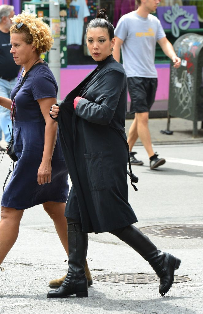 Stars on the film set of 'Teenage Mutant Ninja Turtles 2' in New York City Featuring: Jane Wu Where: Manhattan, New York, United States When: 27 May 2015 Credit: TNYF/WENN.com